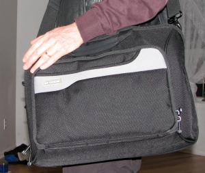 The tools of the trade can be carried in a shoulder bag.